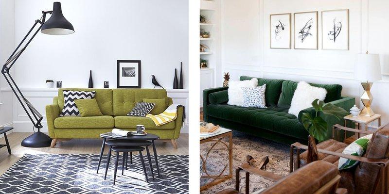 green trend green sofas