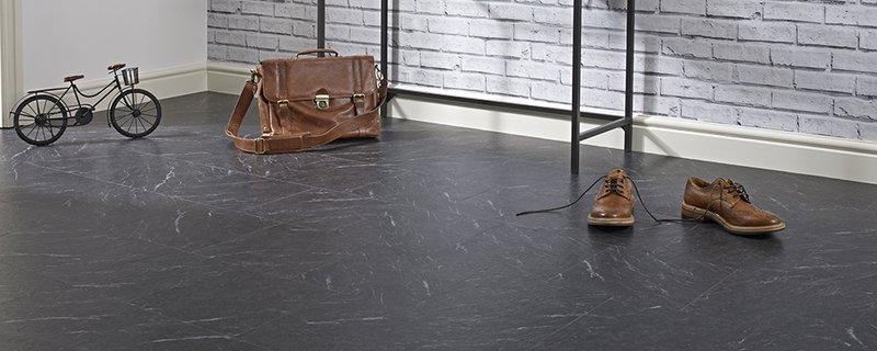 polished slate flooring