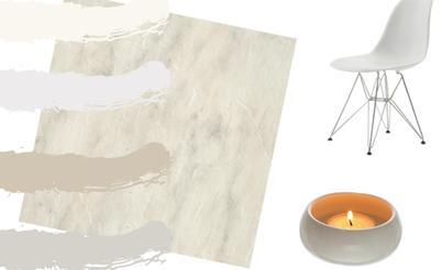 white vinyl flooring