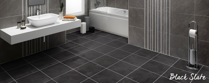 black slate bathroom floor bathroom flooring ideas vusta vinyl flooring 17415