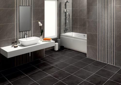 vinyl floor tiles black slate
